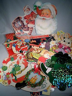 Lot 60 Die Cuts ~Some Vtg ~Easter/St Pat/Honeycomb Turkey +
