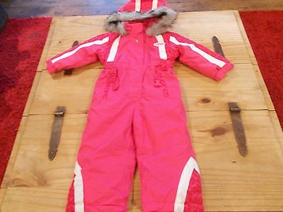 bnwt age 18-24 months girls pink Glacier Point  full length ski /snow suit
