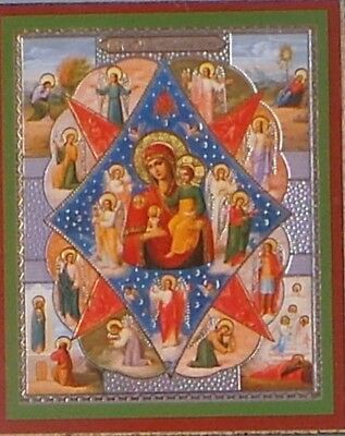 Russian Orthodox Icon Holy Virgin Mary and child religious burning bush