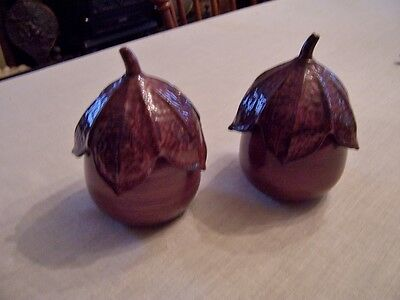 Larry Laslo for Mikasa - Covered jars egg plant shape with lids  pair