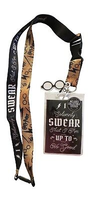 Harry Potter Up to No Good Lanyard Badge / Ticket Holder New