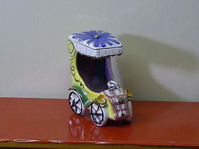 "Italian Porcelain Model Of A Vintage Car - 4.5"" Tall"
