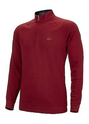 Greg Norman Luxury Cotton 1/4 Zip Golf Pullover Red Large