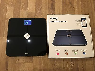 Withings Smart Body Analyzer WS-50 Black Wifi Bluetooth iPhone Android Scale