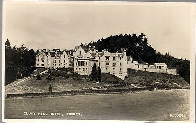Lovely Old Real Photo Postcard - Cluny Hill Hotel - Forres - Moray (Shire)  1958