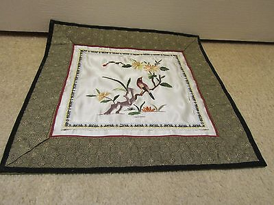 Vintage Chinese Quality Silk Embroidery Wall Hanging or Panel