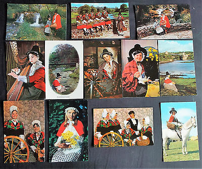 Welsh Ladies in National Costumes Postcards x 12