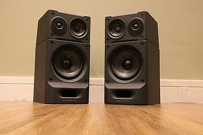 SONY Bi-Wire 3-Way Speakers System Bass Unit and Satellite HIFI Stereo SS-H6600