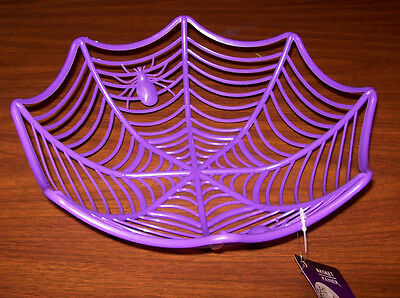 *SALE* Spider in WEB Treat Candy  Bowl Table Decoration *New*