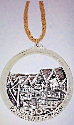 Norway Bergen Pewter Ornament, NEW
