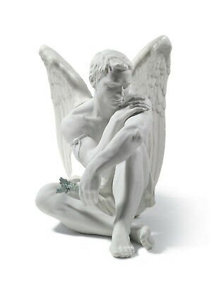 Lladro #8539 Protective Angel Brand Nib Male Angel Large Porcelain $200 Off F/sh