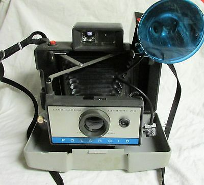 Vintage Polaroid 210 Camera With Flash For Display
