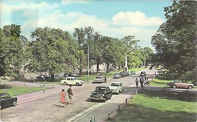 Superb Old Postcard - The Square - Grantown On Spey - Moray  1974 Vintage Cars