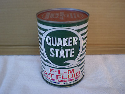 Vintage Metal Quaker State Ford Atf Qt Can Transmission Fluid Oil Can Car Sign