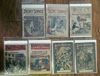 Dick Turpin Penny Dreadful Secret Service Pluck & Luck Liberty Boys Pulps 1920s