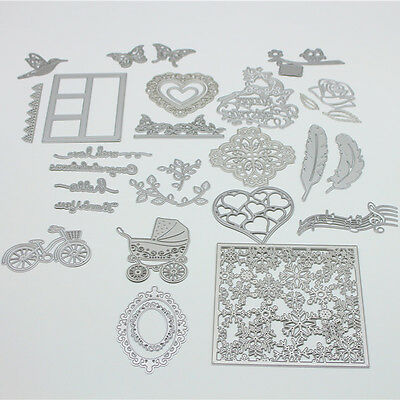 Metal DIY Cutting Dies Stencil Scrapbook Album Paper Cards Embossing Craft Gifts