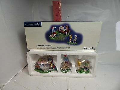 Department 56 Snow Village Accesories , Summertime Family Picnic - 56.55180 , Ne