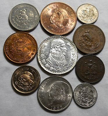 Ten Old Coins From Mexico High Grade Group