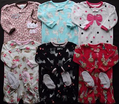 Girl 24 months 2T Carter's Footed Fall Winter Sleepers Pajamas Clothes Lot