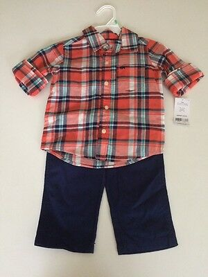 Carter's 2-Piece Shirt & Pants Outfit Set MSRP $24 Baby Boys 18m 18months NWT
