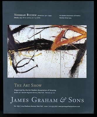 2006 Norman Bluhm Chariot painting NYC gallery vintage print ad