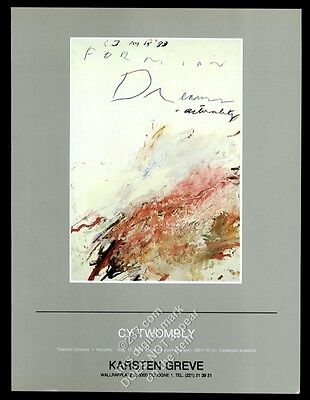 1983 Cy Twombly Formian Dream & Actuality art Cologne gallery vintage print ad