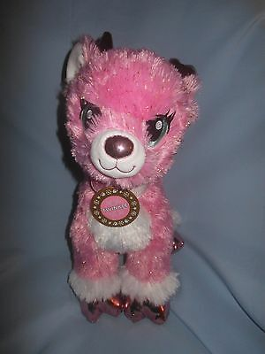 "Build A Bear Twinkle The Supersonic Reindeer Pink Sparkle 14"" NWT!"