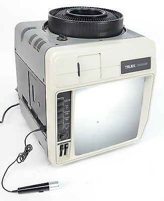Telex Caramate 4480 Slide Projector Viewer 35mm w/ 2 Carousels & Mic
