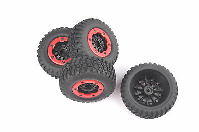 4X HPI Racing Short Course Bead-Loc Tires Wheel Rims HSP 1:10 TRAXXAS Slash Car