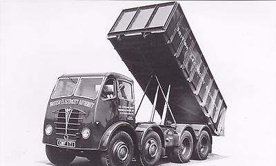B/w Photo British Electricity Authority Foden 8 Whel Tipper - Gwf 171