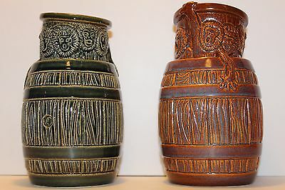 "Set Of Munktiki Monkey ""Rum"" Barrel Tiki Mugs~Limited Edition of 100 Ceramic Art"