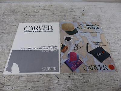 Carver Premiere AV-705x Amplifier Original Manual + Outfitter ~ FREE SHIPPING