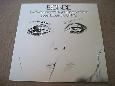 """BLONDIE (I'm Always Touched By Your) Presence Dear 1978 CHRYSALIS  12""""   Nr MINT"""