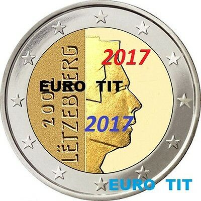2 EURO    LUXEMBOURG    2017    PIECE  SUPERBE  LUXEMBOURG  2017     disponible