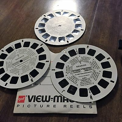 VIEW-MASTER REELS *SEARCH (former  NBC TV series)* 3 REEL1973