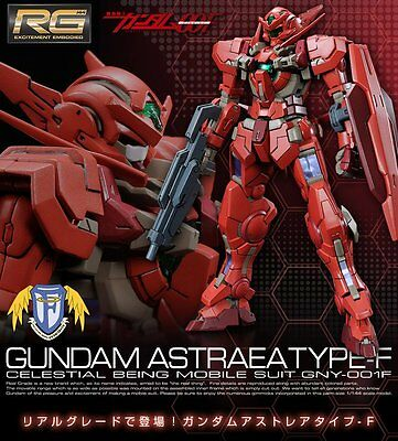 BANDAI RG 1/144 ASTRAEA Type-F Plastic Model Real Grade GNY-001F Celestial Being