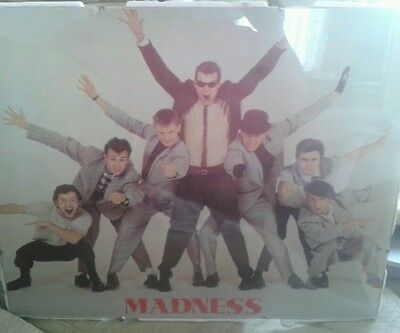 Madness Poster In Glass Frame Over 30 Years Old V G Condition