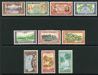 Cook Islands 1949 set of 10 to 3/-     Mint