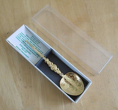 Vintage Gold Plated Reproduction Anointing Spoon By Westair (Boxed)