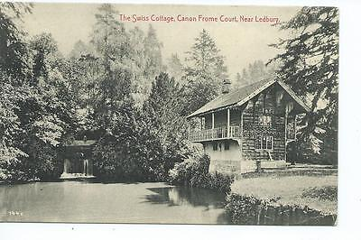 Herefordshire printed PPC of the Swiss Cottage, Canon Frome Court nr Ledbury