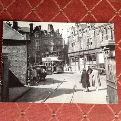 Tram, Postcard, A Scene At Govern Cross, Glasgow,august 1955
