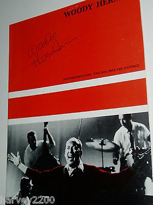 WOODY HERMAN.......(JAZZ Music)....HAND SIGNED AUTOGRAPH ON PROGRAMME...1967