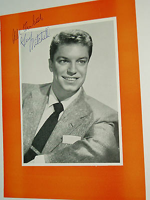 Guy Mitchell....(Pop Music)....hand Signed ..autograph On Programme.1954