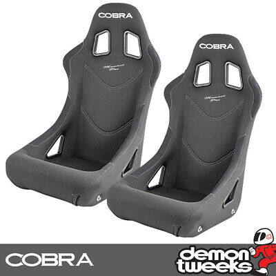 2 x Cobra Monaco Pro FIA Approved Race / Rally Bucket Seats - Grey