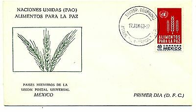 Mexico 1963 Freedom from Hunger first day cover