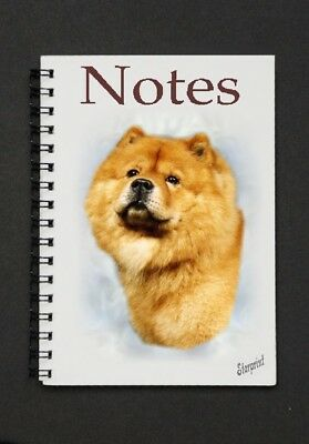 Chow Chow Dog Notebook/Notepad with small image on every page - by Starprint