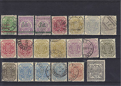 South Africa Transvaal QV Mounted Mint & Used (2)