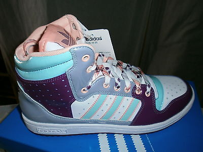 Baskets montantes violet et rose Adidas neuves