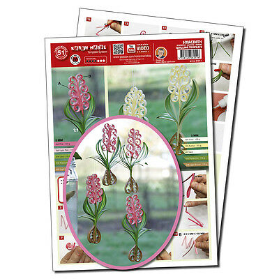 Quilling Template Hyacinth (ohne Pappe)