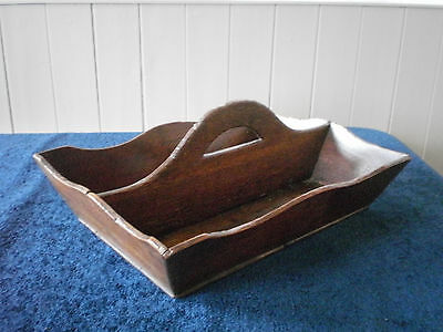 Antique Vintage Wooden Kitchen Knife Fork Spoon Box Cutlery Tray Shabby Shic